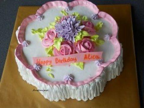 """торт """"Нежный цветок"""" украшаем  кремом https://www.youtube.com/watch?v=5Tr8H4yro6k"""