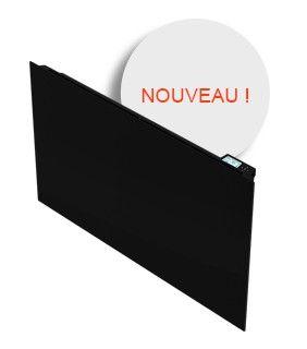 Qualité du design, courbures gracieuses et élégantes, façade en verre et corps de chauffe en fonte, caractérisent le radiateur à inertie Screen.