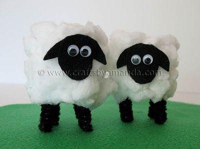 Cardboard Tube Lamb Tutorial (Video!) - Crafts by Amanda