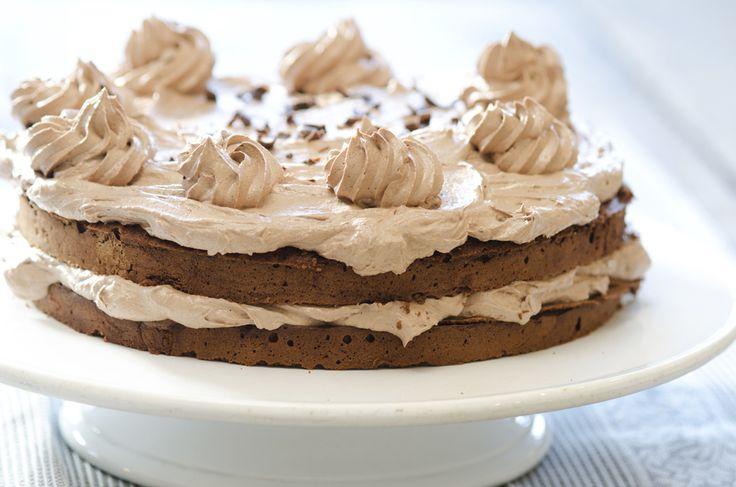 sjokoladekake med smørkrem av sjokolade