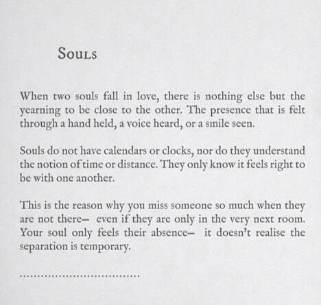 two souls meet poem