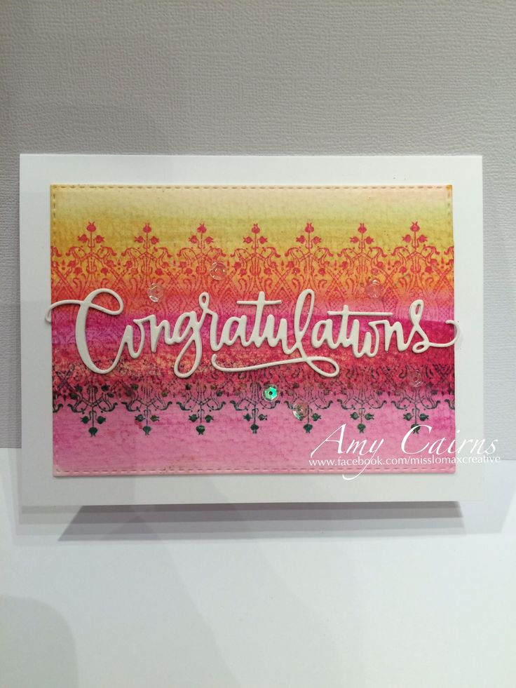 Amy Cairns - Congratulations Card using Simon Says Stamp Congratulations Die