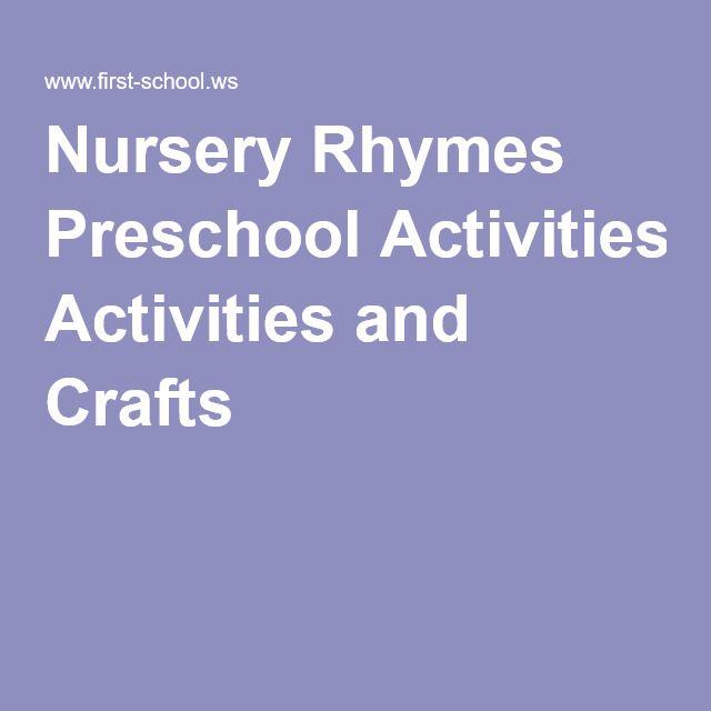 17 Best Ideas About Nursery Rhymes Kindergarten On