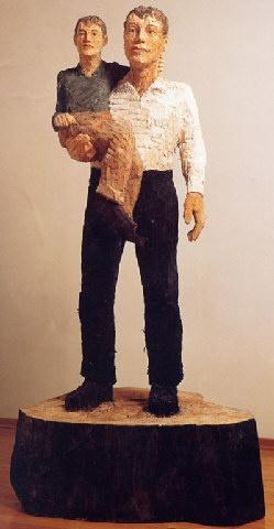 Stefan Balkenhol #skulptur #holz