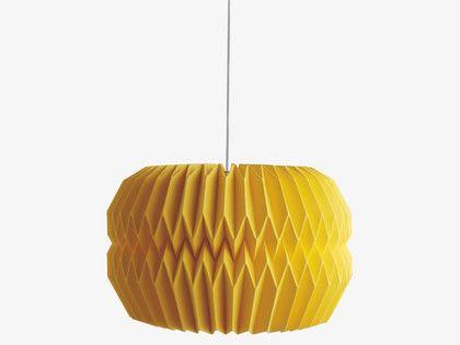 KURA YELLOWS Paper Large yellow paper lampshade 42 x 27cm - HabitatUK