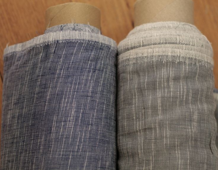 Drapery 70% linen 30% cotton, made in Lithuania, crossweave blue or grey