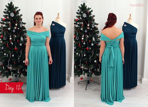 The twelve days of two birds.. Twelve more ways to wear an infinity dress