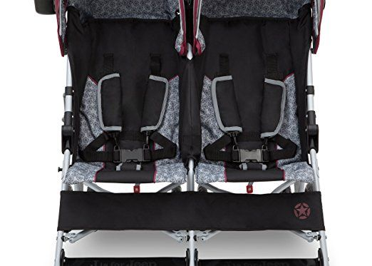 Amazon.com : J is for Jeep Brand Scout Double Stroller, Lunar Burgundy : Baby