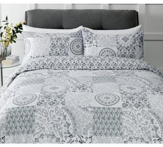 Argos Home Mosaic Bedding Set, Queen Size Bed Sheets Argos
