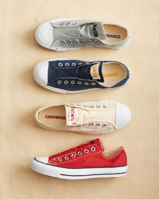 Converse Chuck Taylor Slip Sneakers. No laces, my kinda grab and go comfy shoe!