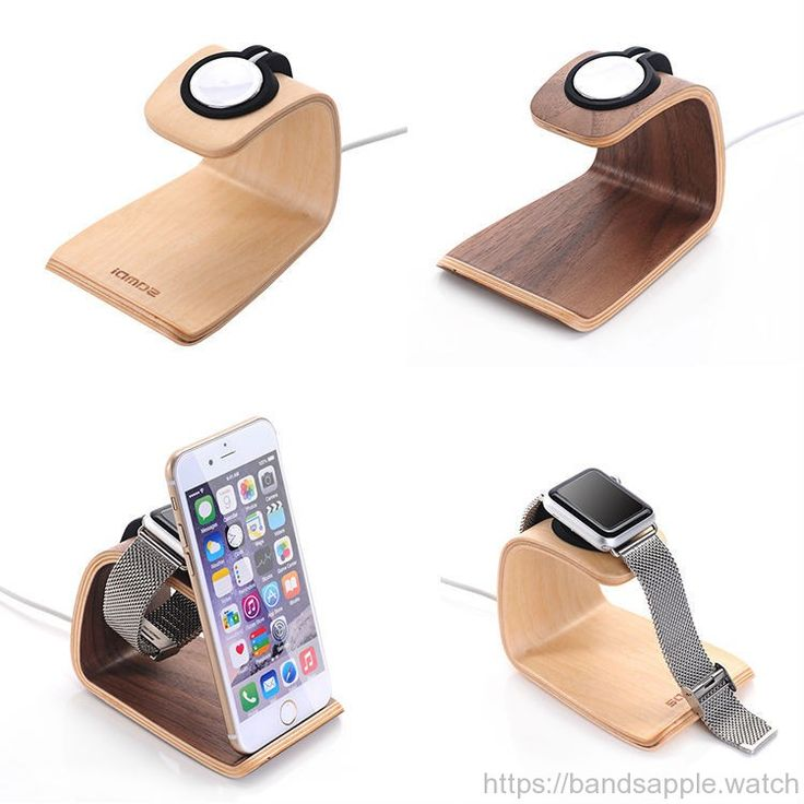 Holder for apple watch stand display smart home charging stand repair  walnut holder keeper charging dock