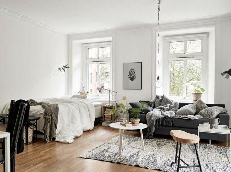 Die Besten 25+ Einzimmerwohnung Ideen Auf Pinterest Lounge Dekor   Kuechendeko  Ideen Wohnideen Einrichten