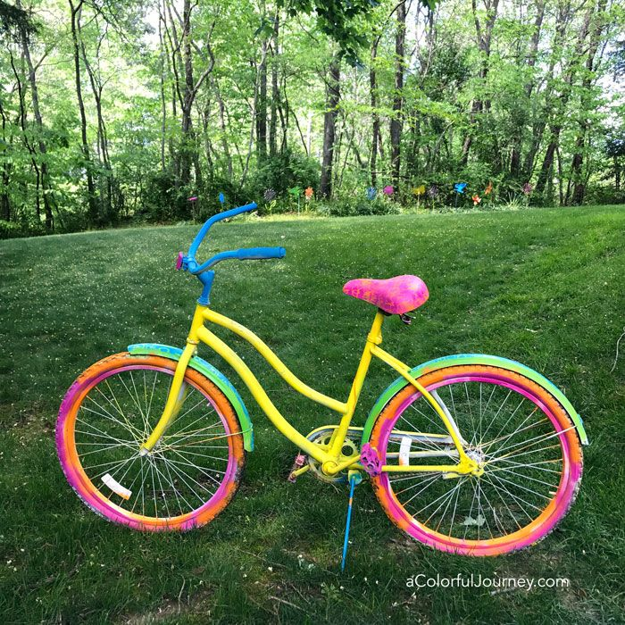 Spray Painting An Old Bike Bicycle Painting Paint Bike Bicycle