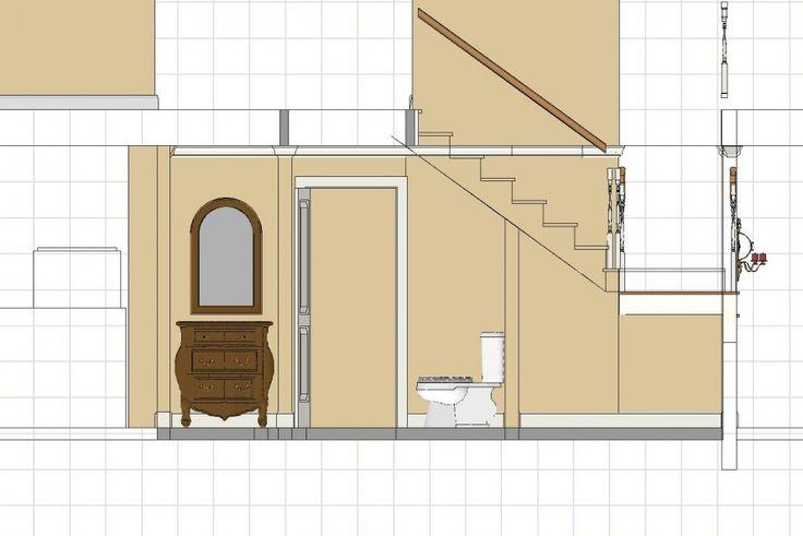 14 best d cor brazilian casa estilo fazenda images on for Bathroom under staircase designs