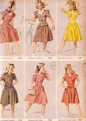 teen fashion from 1944.