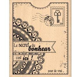 Tampon bois 'Florilèges Design' Le Secret du Bonheur