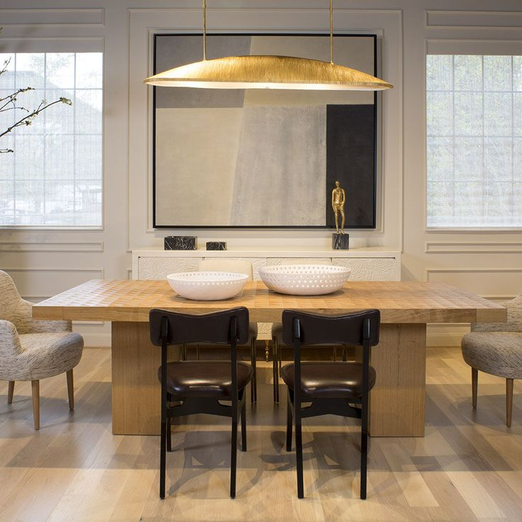 Utopia large linear pendant  gild  Dining Rooms  Contemporary floor lamps Dining lighting