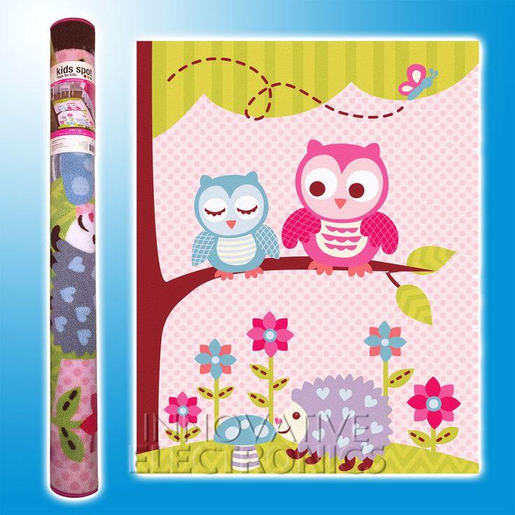 Details About Pink Blue Flowers Kids Rug Carpet Sizes