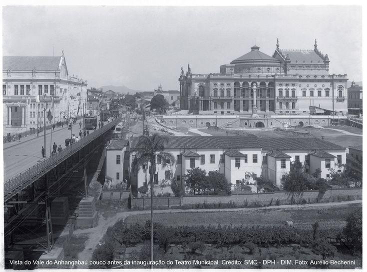 Vale_do_anhangabau_pouco antes da inauguração do Teatro Municipal