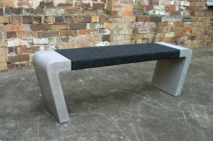 Upholstered Carpet center on POPconcrete Istu Bench Seat