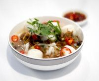 Singapore Airlines Fish Ball Kway Teow Soup #sq #singaporeairlines #inflightmenu #food #businessclass