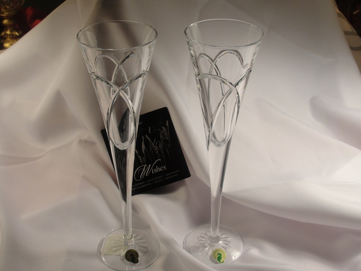 Wedding Flutes for that big day, By Waterford. At Miss T's Sets.