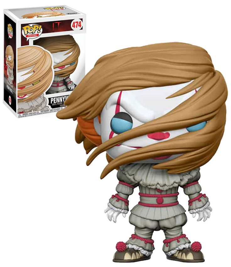 Funko POP! Horror #474 'It' 2017 Pennywise (With Wig) - New Mint #Funko #FunkoPop #It #Pennywise #Horror #StephenKing