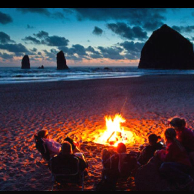 The best...Beach Bonfires, Beach Camps, Buckets Lists, Cannon Beach Oregon, Cannonbeach, At The Beach, Oregon Coast, Summernight, Summer Night