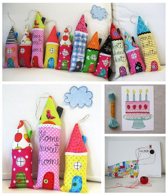 SYKO KAJSA - FABRIC HOUSES - I don't even know exactly what they're for, but they're cute! :)