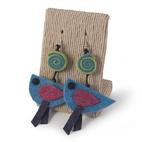 orecchini in lana cotta