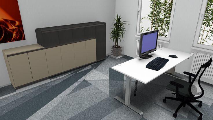 elektrisch höhenverstellbarer Schreibtisch...