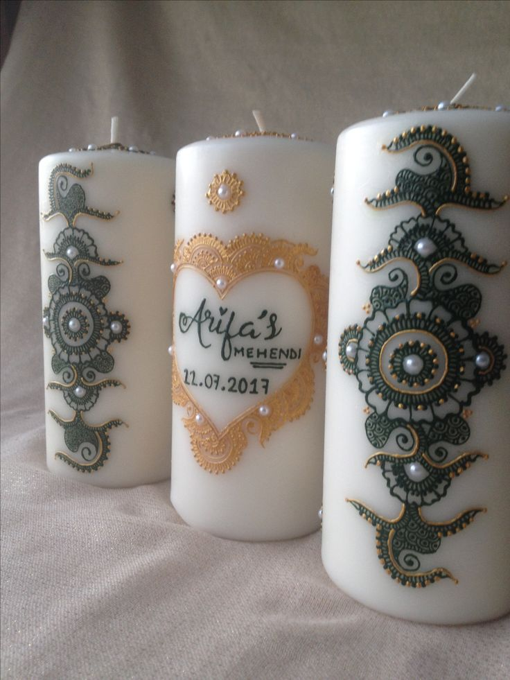 Contact me for personalised henna candles tailored to suit any colour theme or occasion ~ fbegum922@gmail.com