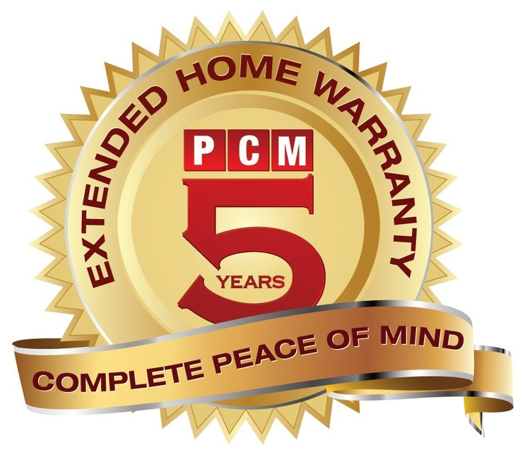 PCM - Project & Construction Management Inc offers a 5 year extended PCM Built Home Warranty. For complete details & warranty manual please contact PCM Inc at 416 414 6577 or mailto:carlos@pcmnow.com