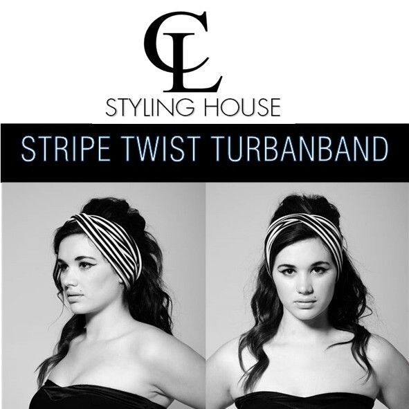 1960's inspired shoot with the gorgeous Lola CL NEW COLLECTION - STRIPE TWIST TURBAN BAND #CL #turbanband #headband #stripes #60's