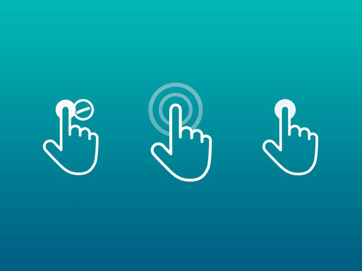 Freebie: 100+ Touch Gestures Icons - Freebbble