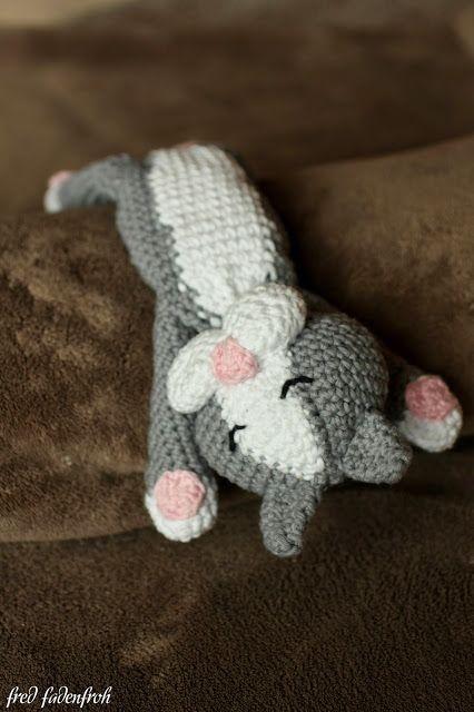 kostenlose Häkelanleitung Katze / crochet cat