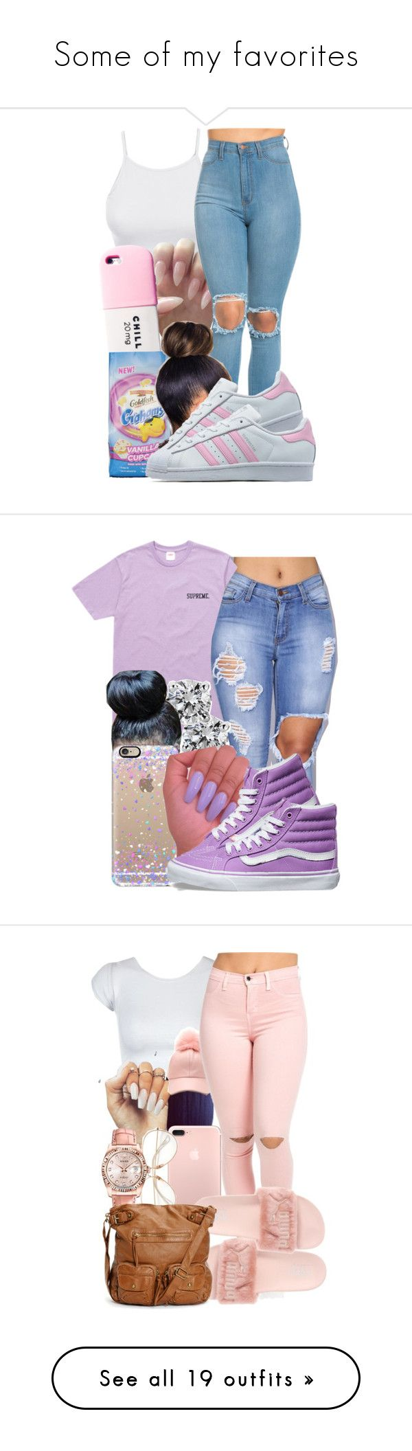 """""""Some of my favorites"""" by pimpcessjayyy ❤ liked on Polyvore featuring LE3NO, Valfré, adidas Originals, Blue Nile, Casetify, Vans, Rolex, Nadri, Kate Spade and Converse"""