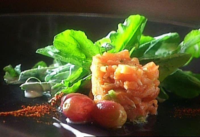 di Stasio - Salade de roquette et tartare de saumon fumé