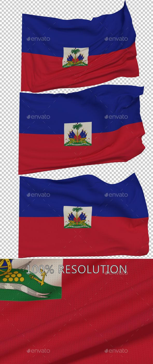 Flag of Haiti - 3 Variants