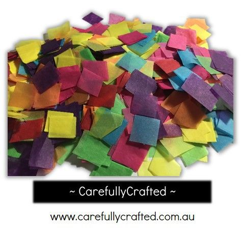 CarefullyCrafted - 25 Grams Tissue Paper Confetti - Rainbow - 0.75 inch Squares  - wedding, wedding planning, party, party planning, party fun, confetti, rainbow confetti, confetti mix, square confetti, paper pieces, event, event décor, decoration, tableware http://carefullycrafted.com.au/25-grams-tissue-paper-confetti-rainbow-0-75-inch-squares-cs3/