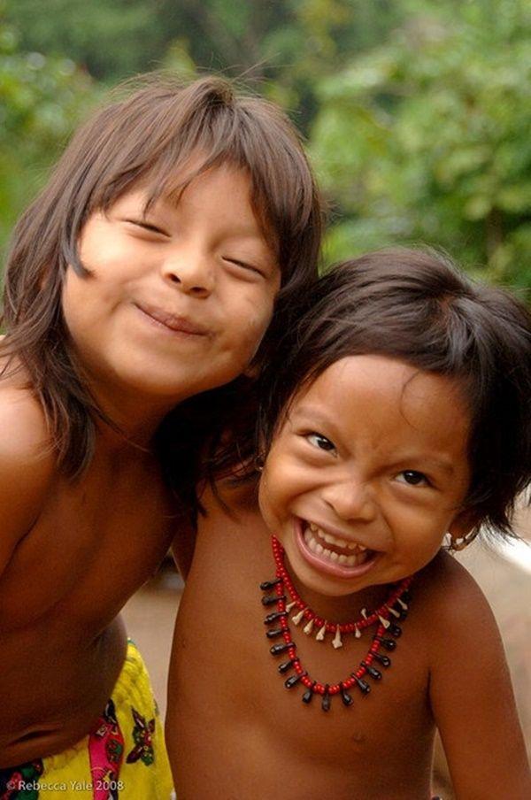 Beautiful Children from the Embera Village in Panama~