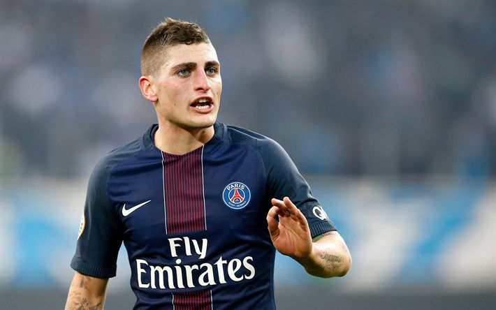Download wallpapers Marco Verratti, 4k, footballers, PSG, soccer, Ligue 1, Lucas Moura, Paris Saint-Germain