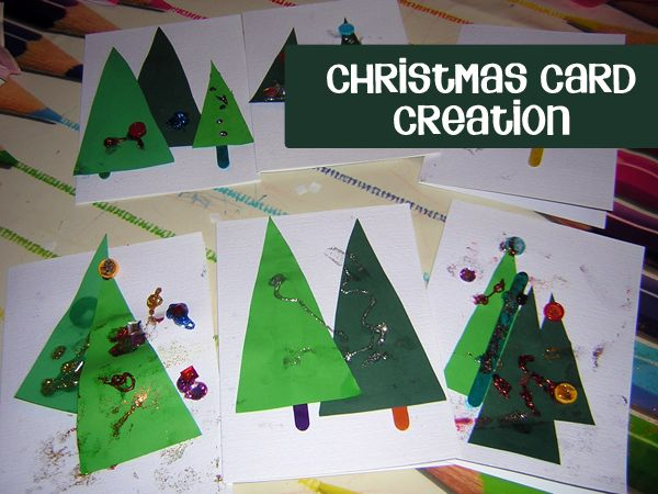 Creating Christmas cards with your toddler to send to family members this year - if you have older children this is perfect for them as well.
