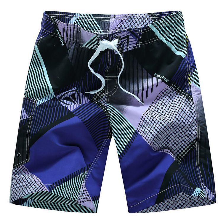 NEW Men's Fashion-Print Drawstring Bermuda Surf Shorts M-3XL 2 Colors