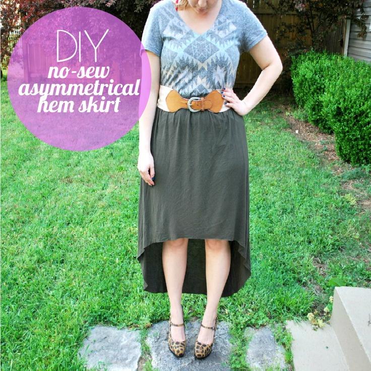 Purty skirt  DIY: Maxi Dresses, No Sewing, Skirts Tutorials, High Low Skirts, Asymmetrical Hemmings, Diy Clothing, Hemmings Skirts, Maxi Skirts, Asymmetrical Skirts