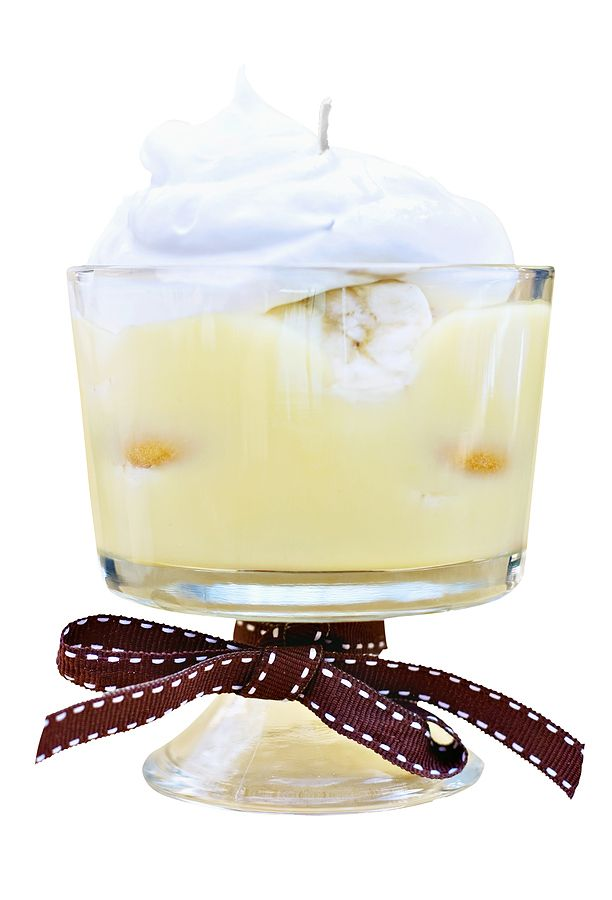 Omg!!! This is a candle! Banana Cream Pudding Candle with Tutorial