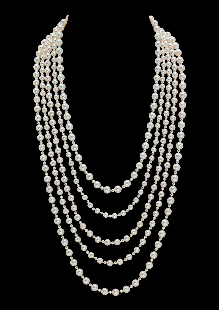 best 25 chanel pearl necklace ideas on pinterest. Black Bedroom Furniture Sets. Home Design Ideas