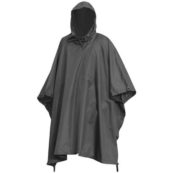 Waterproof Poncho Ripstop Black | Waterproofs | Military 1st