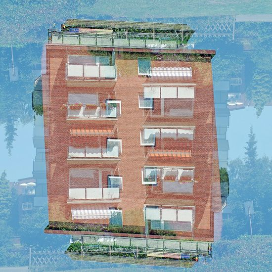 Urbane Landschaft, Rotes Haus