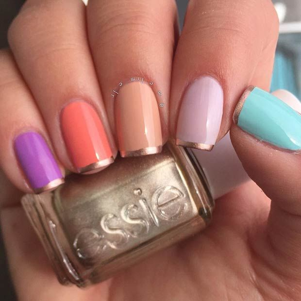 Summer French Tip Nails
